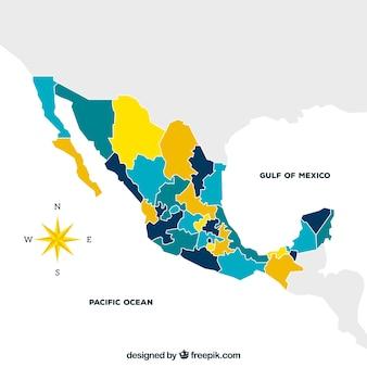 Platte mexico kaart achtergrond