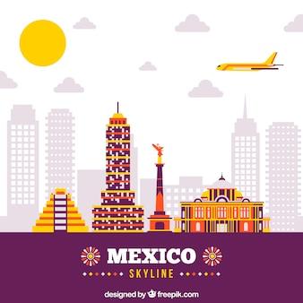Platte mexico skyline achtergrond