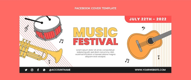Platte minimal music festival facebook cover