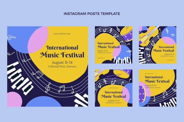 Platte minimal music festival instagram posts