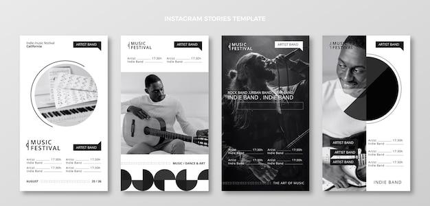 Platte minimal music festival instagram-verhalen
