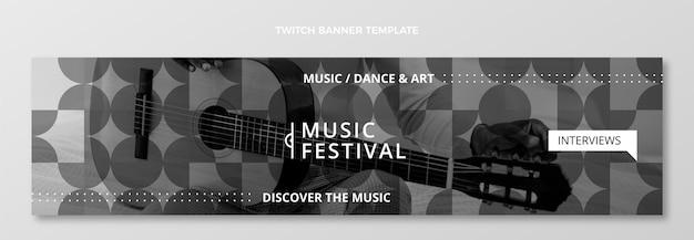 Platte minimal music festival twitch banner