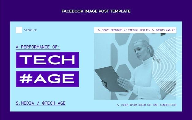 Platte minimale technologie facebook post