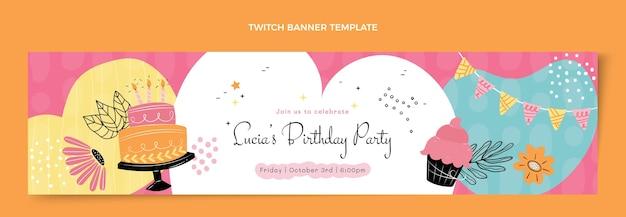 Platte minimale verjaardag twitch banner