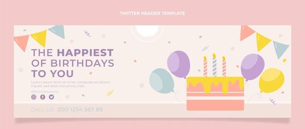 Platte minimale verjaardag twitter header