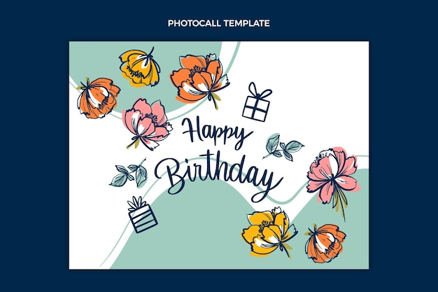 Platte minimale verjaardagsfotocall