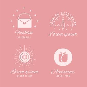 Platte mode-accessoires logo collectie