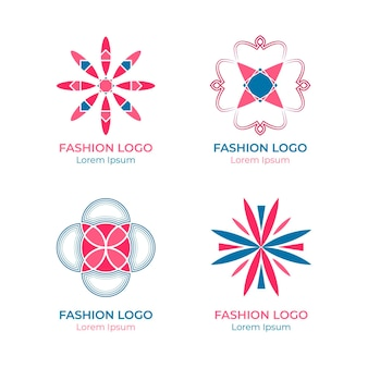 Platte mode-accessoires logo-collectie
