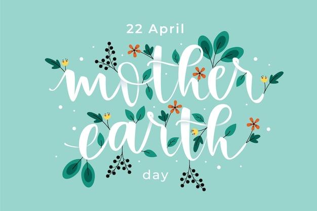 Platte moeder aarde dag concept