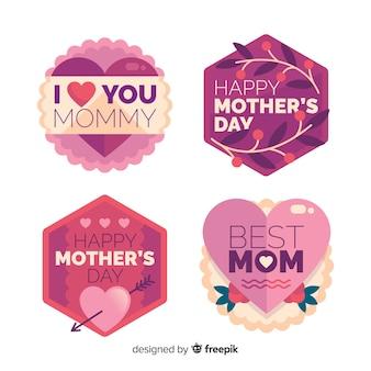 Platte moederdag badge-collectie