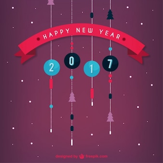 Platte mooie kerstballen nieuwe jaar achtergrond