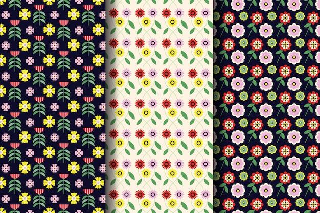 Platte mooie lente patrooncollectie