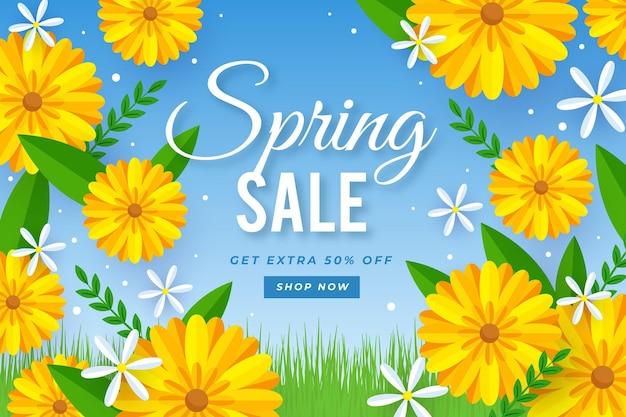 Platte mooie lente verkoop achtergrond