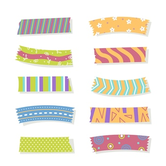 Platte mooie washi-tapes set