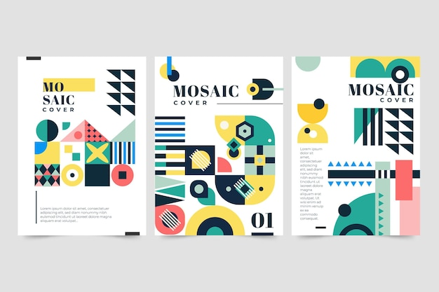 Platte mozaïek covers collectie