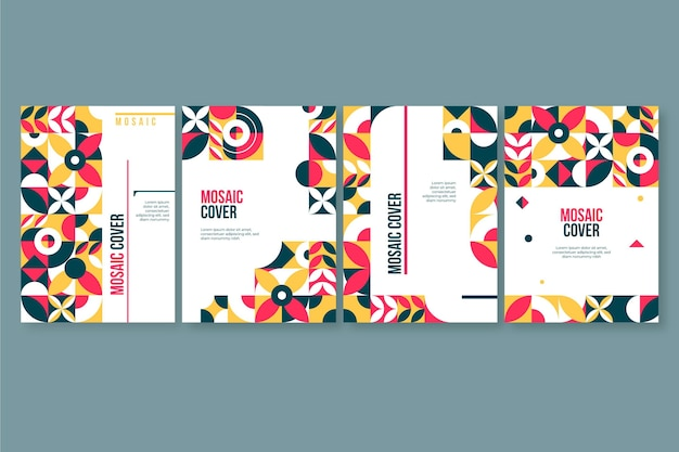 Platte mozaïek covers set