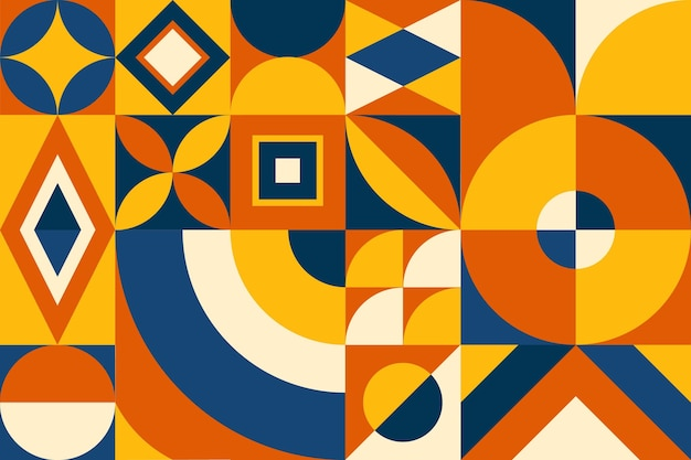 Platte mozaïek geometrische achtergrond