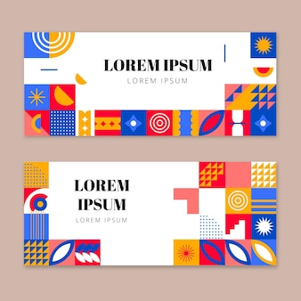Platte mozaïek horizontale banners