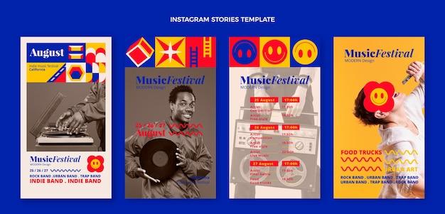 Platte mozaïek muziekfestival instagram verhalen