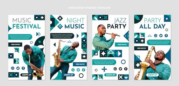 Platte mozaïek muziekfestival instagram verhalencollectie