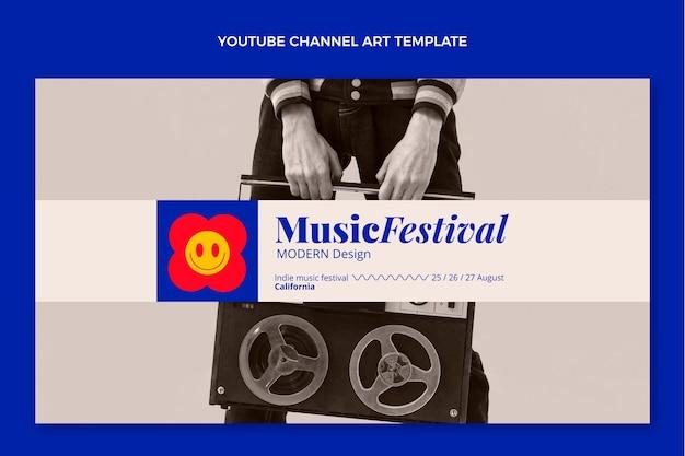 Platte mozaïek muziekfestival youtube-kanaalkunst