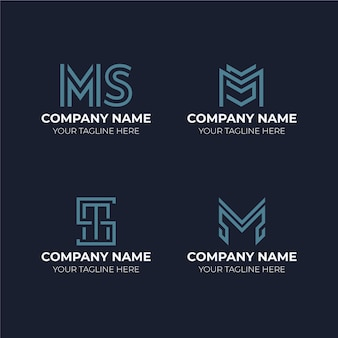 Platte ms logo sjablonen set
