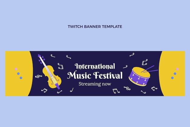Platte muziekfestival twitch banner