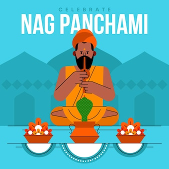 Platte nag panchami illustratie