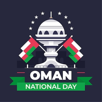Platte nationale dag van oman