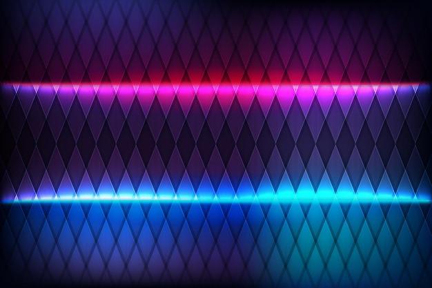 Platte neon moderne achtergrond