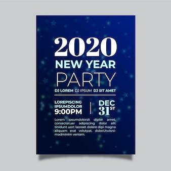 Platte nieuwjaarsfeest folder sjabloon