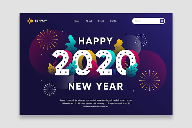 Platte nieuwjaarslandingspagina