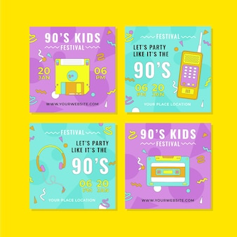 Platte nostalgische instagramposts uit de jaren 90