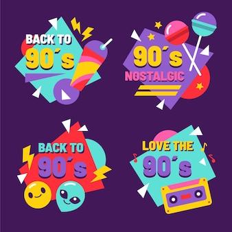 Platte nostalgische jaren 90 badges