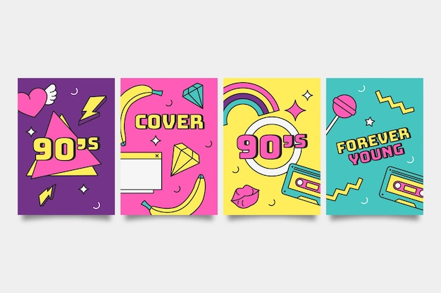 Platte nostalgische jaren 90 covers collectie