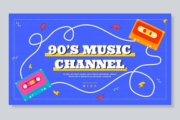 Platte nostalgische youtube-thumbnail uit de jaren 90