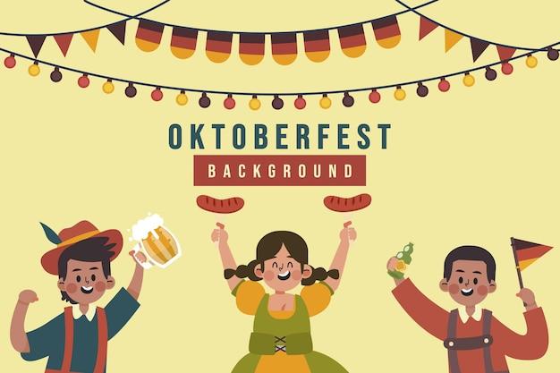 Platte oktoberfest achtergrond