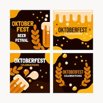 Platte oktoberfest instagram-berichtenverzameling