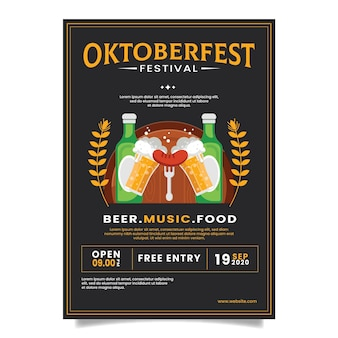 Platte oktoberfest poster concept