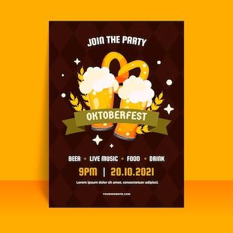 Platte oktoberfest verticale postersjabloon