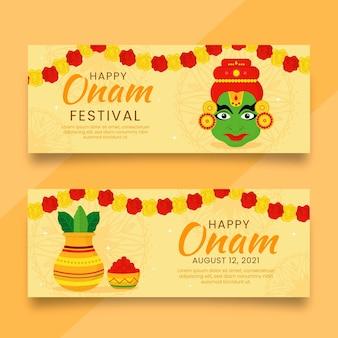 Platte onam banners set