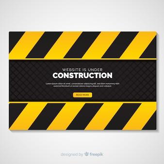 Platte onder constructie bestemmingspagina