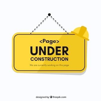 Platte onder constructie sjabloon