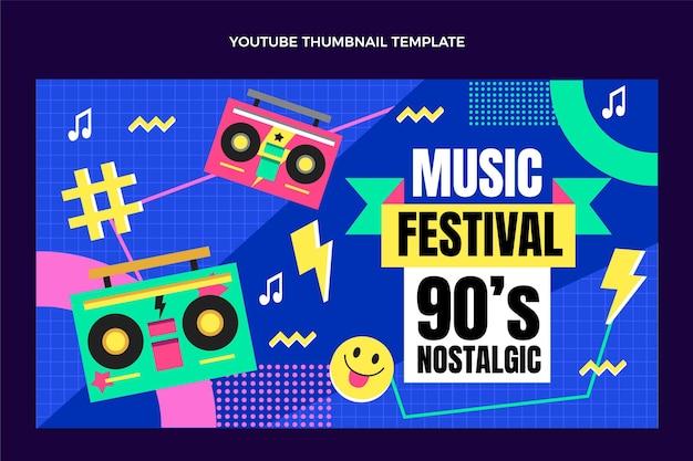 Platte ontwerp 90s muziekfestival youtube thumbnail