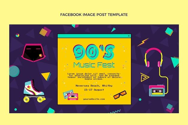 Platte ontwerp 90s nostalgische muziekfestival facebook post
