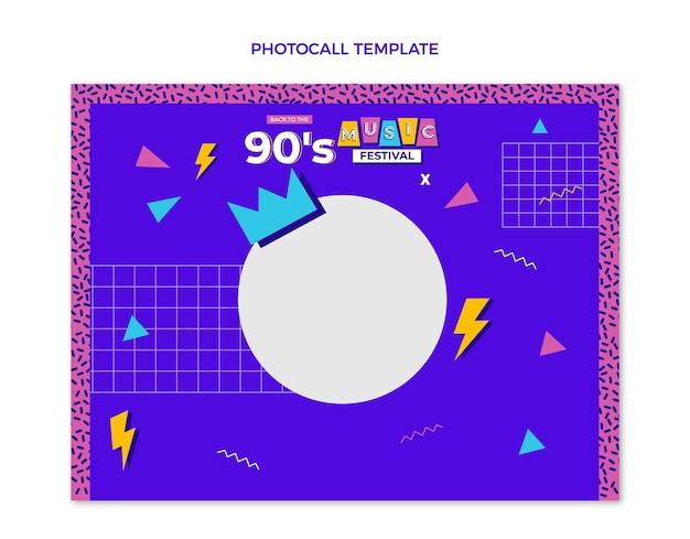 Platte ontwerp 90s nostalgische muziekfestival photocall