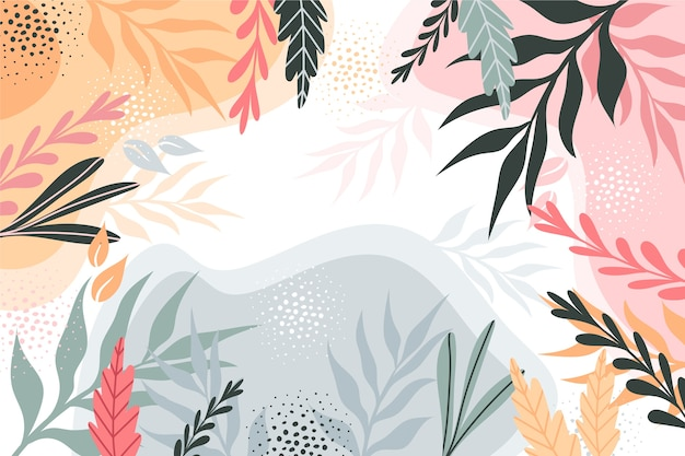 Platte ontwerp abstract floral achtergrond