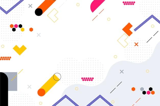 Platte ontwerp abstracte achtergrond met kleurrijke vormen