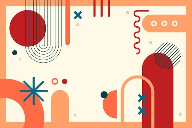 Platte ontwerp abstracte geometrische achtergrond