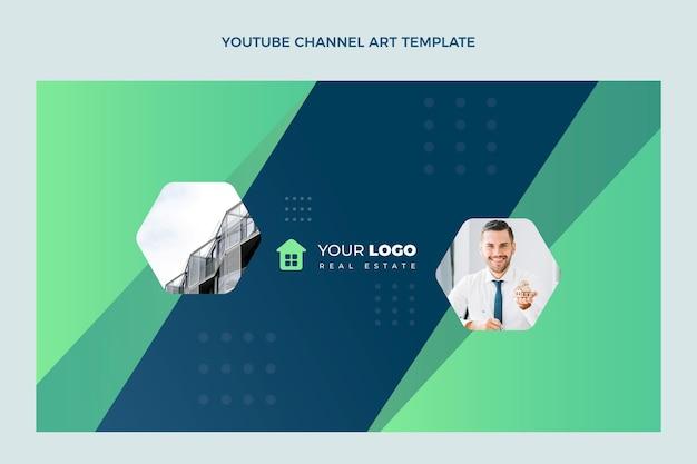 Platte ontwerp abstracte geometrische onroerend goed youtube channel art